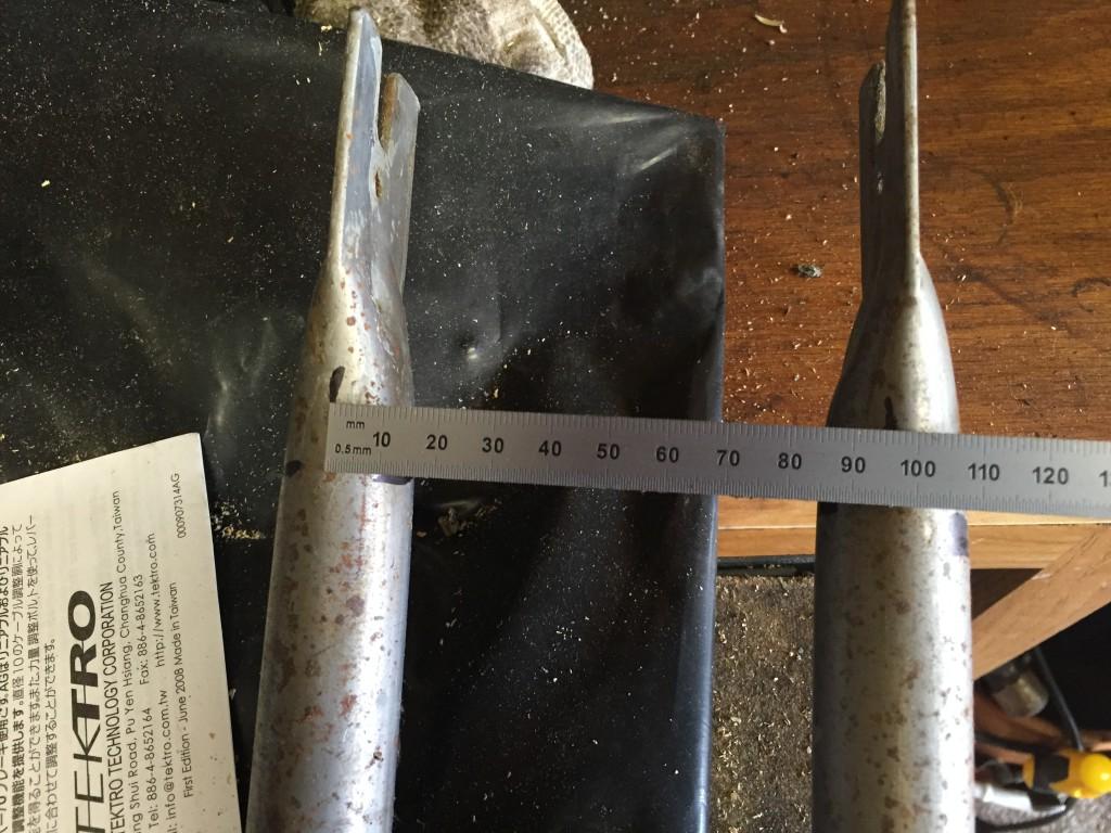 brake post width